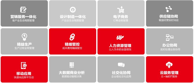 用友U8+成长型企业十二大互联网应用模式